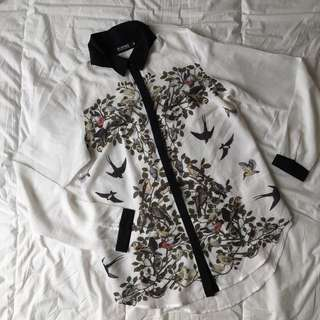 Printed Chiffon Long Sleeve