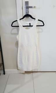 Miss Shop white tight fitted dress size 6