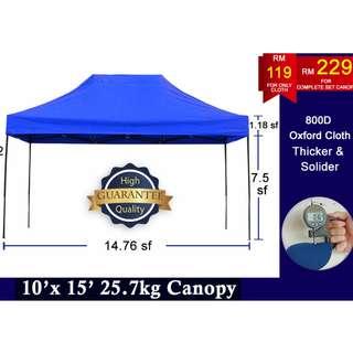 10x15 800D Canopy Tent Khemah Kanopi Wedding Bazar Ramadhan Party Event Stall Sun Shade Car park Event Sun Shade Pasar Malam Wedding Exhibition Car Park Shade Pameran Berkelah Picnic Khemah Kanopi Outdoor Tempat Letak Kereta Penjaja Berniaga Makanan