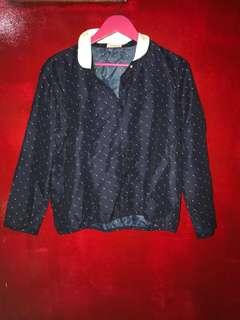 Korean blouse navy Blue