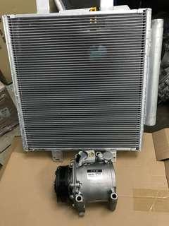 myvi 1.3 compressor dan codenser terima siap