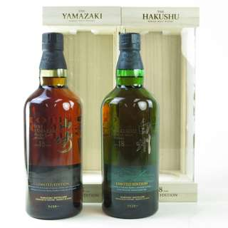 Yamazaki 18 Years Old and Hakushu 18 Year Old  Limited Edition