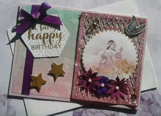 Handmade Card: Fairy Happy Birthday