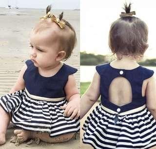 navy top baby girl