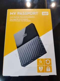 WD My Passport 4TB USB 3.0 Portable Storage