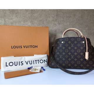LOUIS VUITTON M41056 MONTAIGNE MM MONOGRAM CANVAS HANGBAG