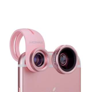 Momax X-Lens:2合1鏡頭組合 - CAM2 Rose Gold