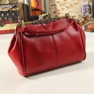 Dark red bag handbag/ crossbody
