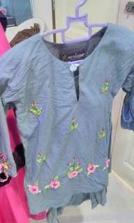 Baju kurung grey 1yo