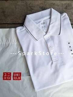 Uniqlo Kaos Polo Shirt Dry-EX Putih
