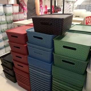 Rattan organizer box