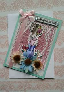 Handmade Card: Thinking Of You