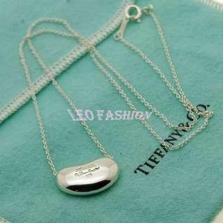 【LEO FASHION】二手正美品 Tiffany&Co. 草寫款大相思豆項鍊