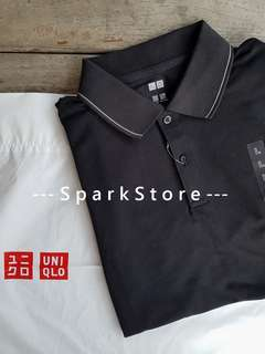 Uniqlo Kaos Polo Shirt Dry-EX Hitam