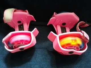 Flashing roller skate for girls