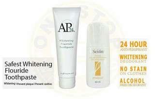 Amazing whitening duo AP24 & SCION