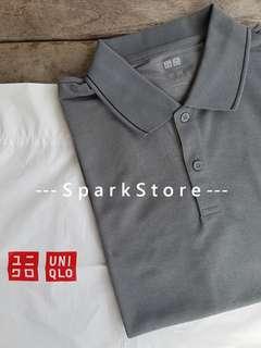 Uniqlo Kaos Polo Shirt Dry-EX Abu-Abu