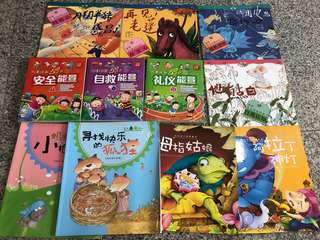 Chinese Story Books in mint condition. For 3-6 yrs old.