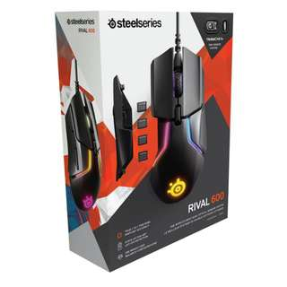 SteelSeries Rival 600 Gaming Mouse - 12,000 CPI TrueMove3+ Dual Optical Sensor - 0.5 Lift-off Distance - Weight System - RGB Lighting Steel Series ( 1 yr Local Warranty ) steel series