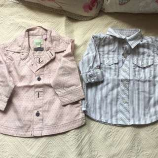 Monsoon and Mothercare Baby Boy Shirt 6-12m