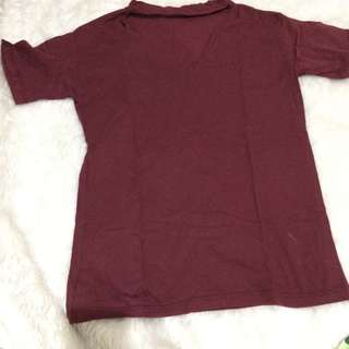 Maroon chocker shirt