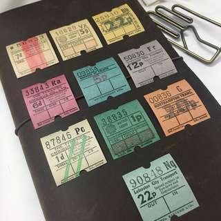 Mixed Vintage British Bus Tickets