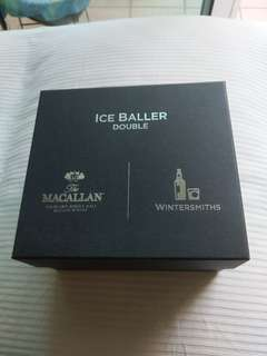 The Macallan Ice Baller Double Crystal Clear Ice Ball maker