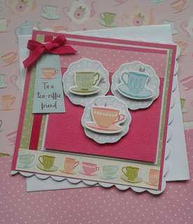 Handmade Card: Tea-riffic Friend