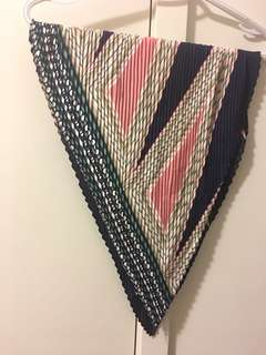 Scarf - pink and blue (silk like material)