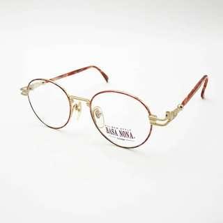 🚚 脫窗眼鏡行 / 日本雕花22K金眼鏡框 no.A11 vintage