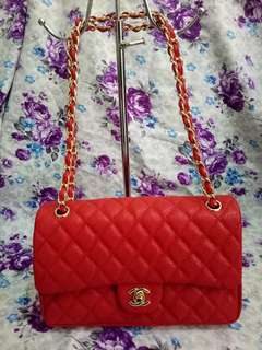 Chanel Double Flap Caviar Leather
