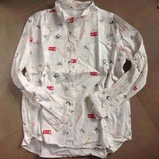 Idc 白色印花恤衫