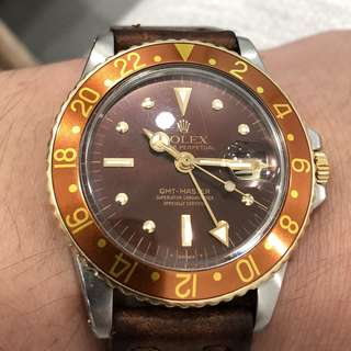 Rolex GMT Root Beer 1675 - Tiger Eye!*reserved*
