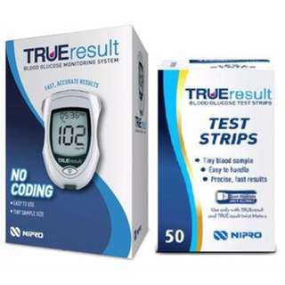 TRUEresult Blood Glucose Meter Starter Pack (Meter Kit + 50s Test Strips)