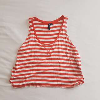 Cotton On Red Stripes Cropped Top