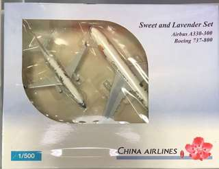 全新 飛機模型 中華航空  特別版 一套兩隻