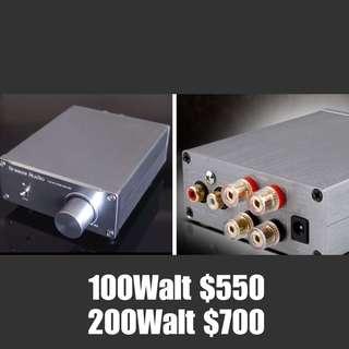 Big Poewr Mini Size Amplifier  Size 9cm/10cm/4cm Small size very delicate  sound beyond imagination RCA input  大功率小型擴音機  高音通透,中頻甜美,低頻飽満強勁鬆軟自然 Size 9cm/10cm/4cm RCA輸入