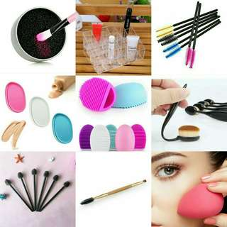 TAKE ALL! 9 ITEMS! Makeup brush sponge organizer