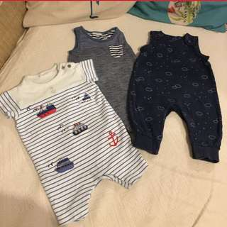 NEXT Baju Baby Boy Dungarees Bundle 3-6m