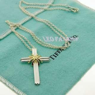 【LEO FASHION】二手正美品 Tiffany & Co. 閃耀十字架項鍊