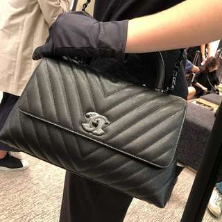 Authentic Chanel Coco Medium All Black