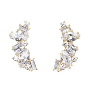 Kate Spade New York Cluster Crawler Earrings In Gold (INSTOCK)