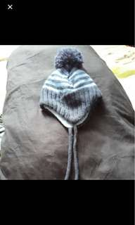 Baby HM knit cotton snow cap