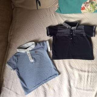 Matalan UK Baju Baby Boy Polo Shirts 3-6m