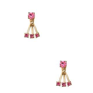 Kate Spade New York Dainty Sparklers Ear Jacket in Fuchsia (LAST IN STOCK)