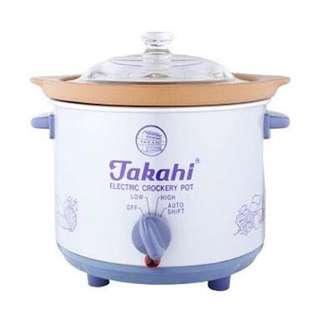 TAKAHI Slow Cooker 1.2 L (Blue/White) - MUST HAVE FOR BABY WEANING (MPASI)