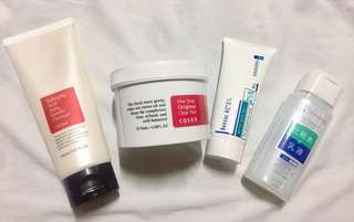 CosRx clear pads & Salicylic Cleanser Plus Benzac and Pure Moisturizer- Grab for 1000 only!!!