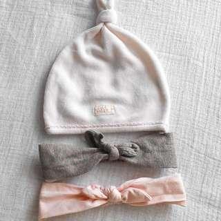 H&M Headband, Mothercare Hat