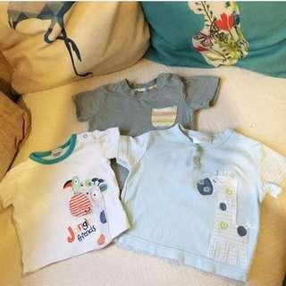 Baju Baby Boy T Shirt Bundle from UK 3-6m
