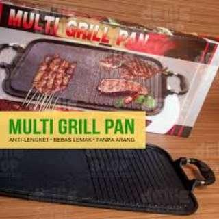 Multi Grill Pan Alat Pemanggang Daging Sosis Tanpa Arang